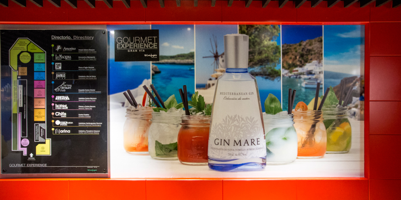 Cartel Gin Mare en Gourmet Experience El Corte Inglés