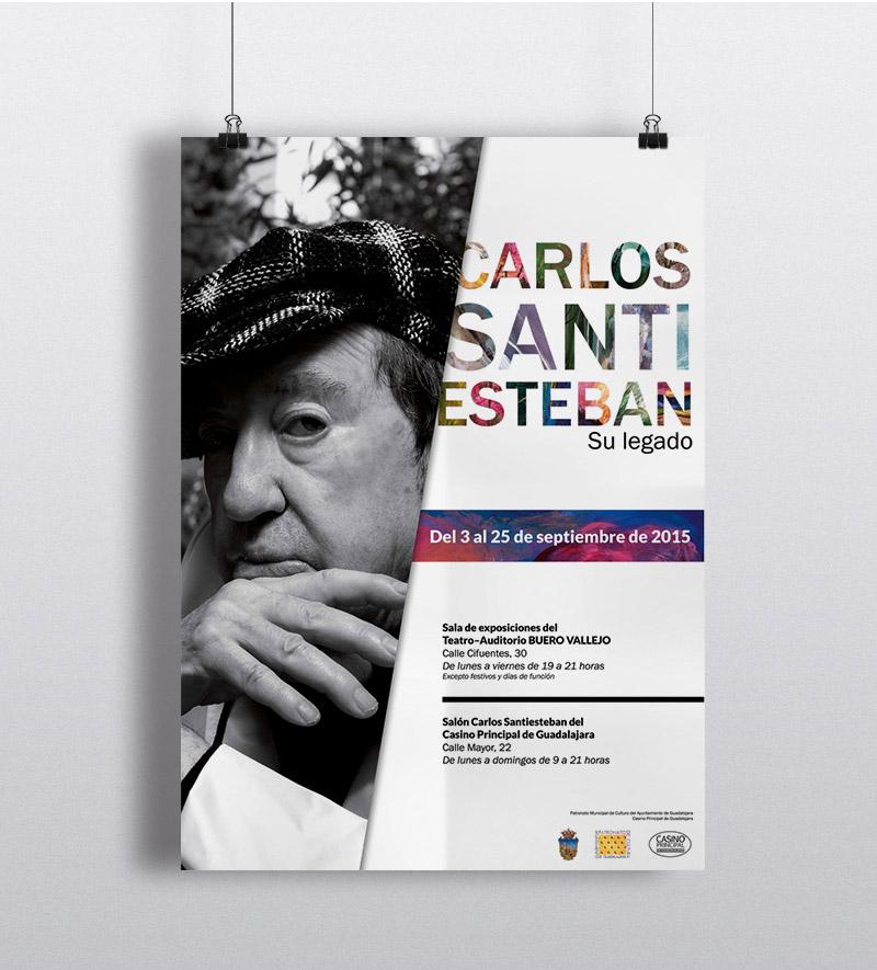 Cartel exposición Carlos Santiesteban