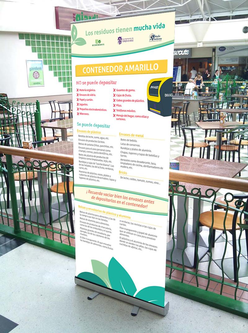 Roll up exposición Torrejón separa y recicla