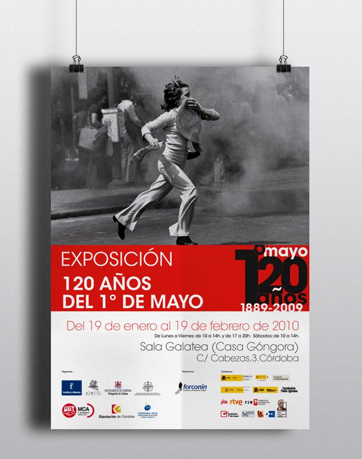 Cartelería exposición 120 años del 1º de mayo