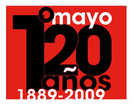 Logotipo 120 años del 1º de mayo