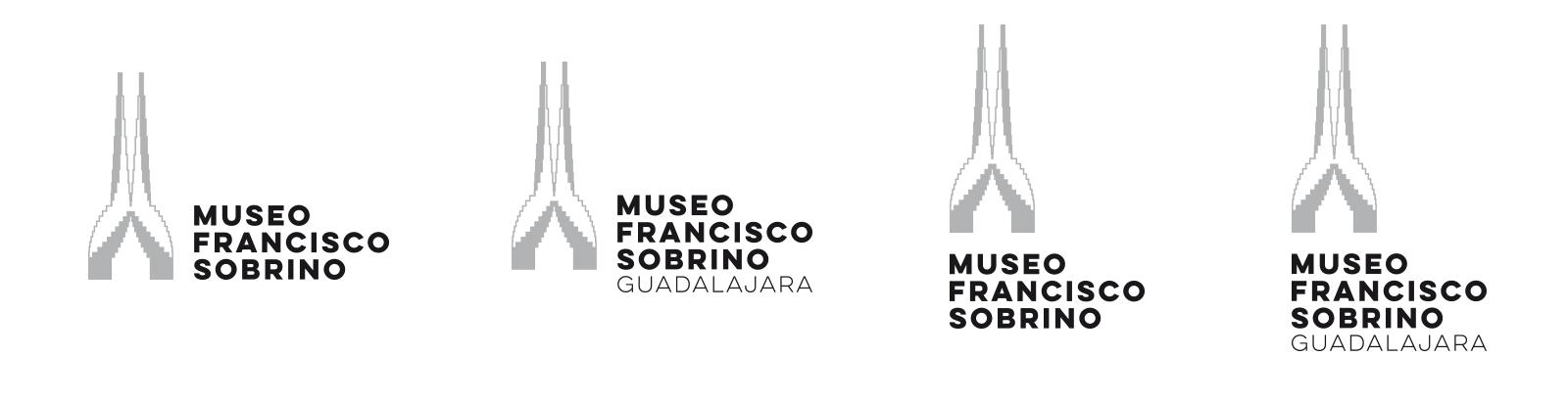 Versiones logotipo Museo Francisco Sobrino