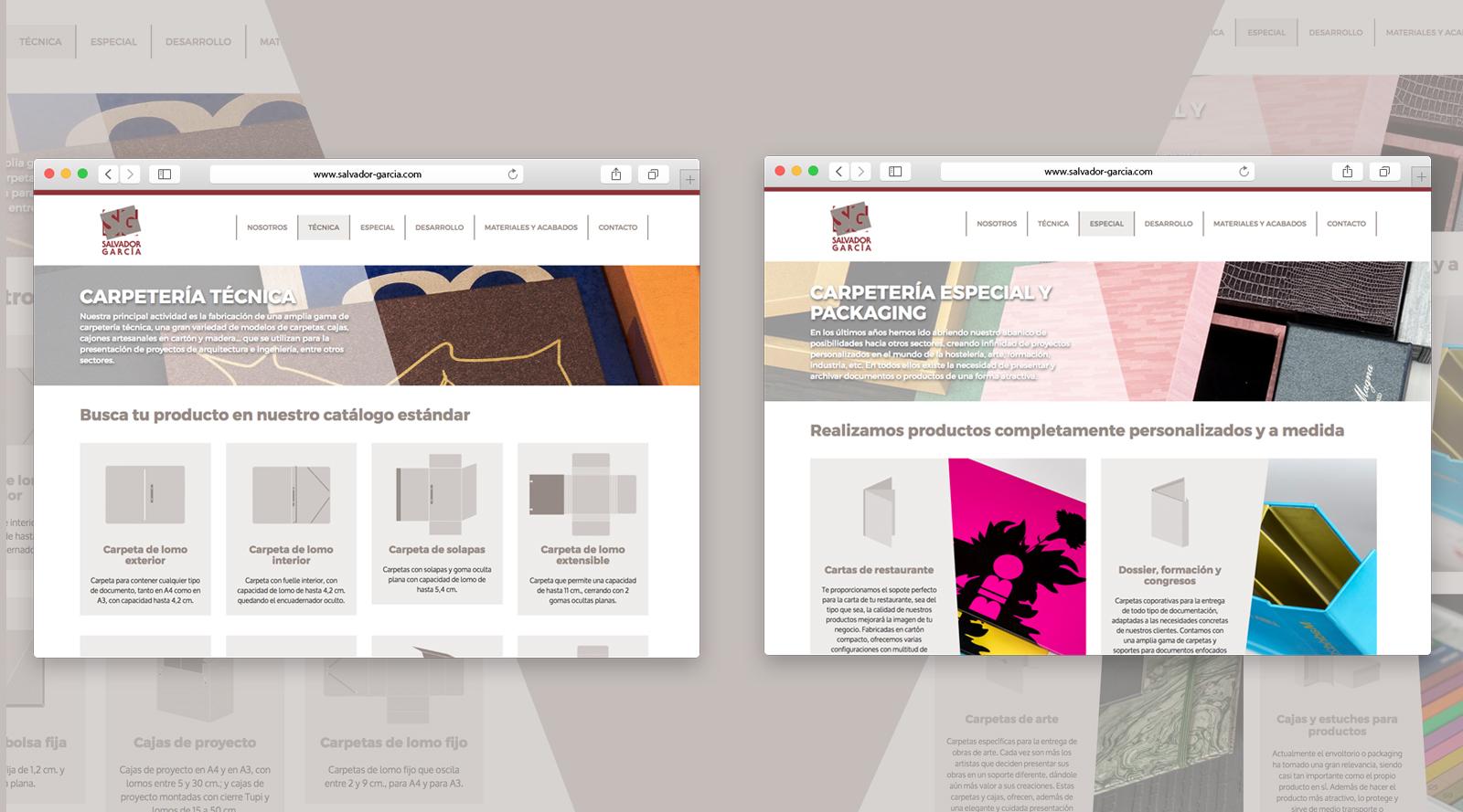 Web con catálogo de productos Salvador García