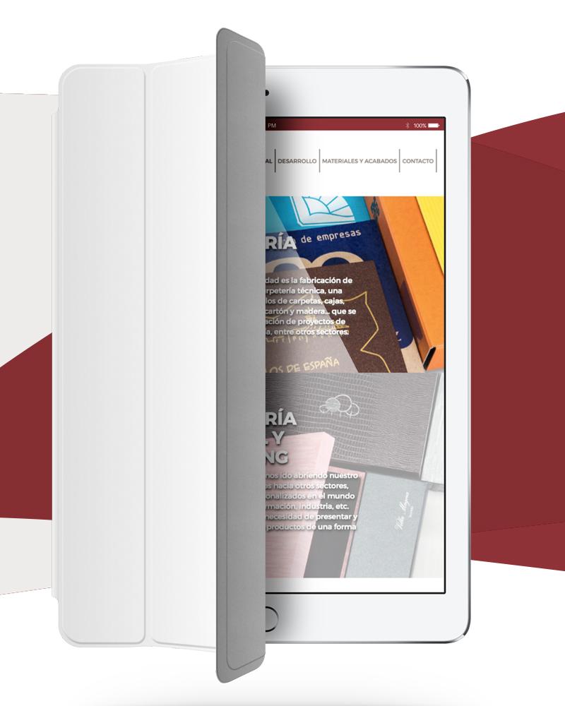 Vista reponsive para tablets de la web de Salvador García