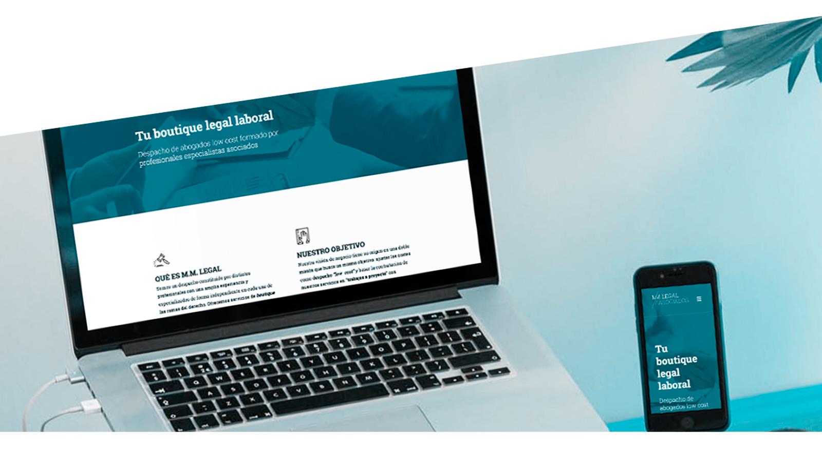 Version escritorio y movil web MM | Legal