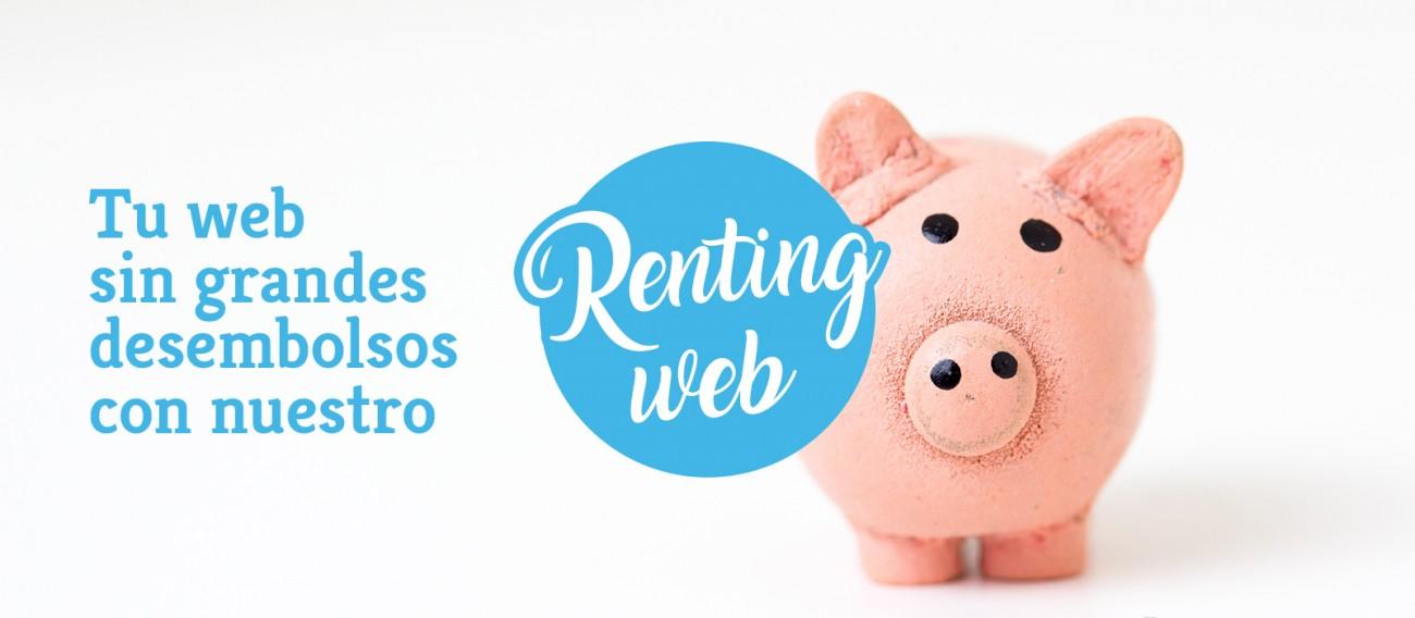 Tu web sin grandes desembolsos con nuestro Renting Web